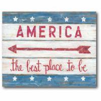 Courtside Market America Sign 26-Inch x 18-Inch Wall Art