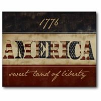 Courtside Market 1776 America 26-Inch x 18-Inch Wall Art