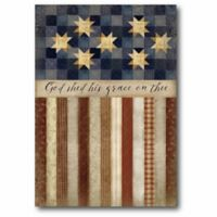 Courtside Market Patriotic Quilted 24-Inch x 20-Inch Wall Art