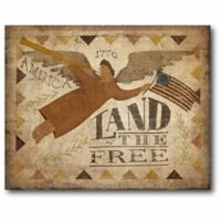 Courtside Market Land Of The Free 24-Inch x 20-Inch Wall Art