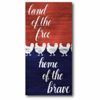 """Courtside Market """"Home of the Brave"""" Canvas Wall Art"""