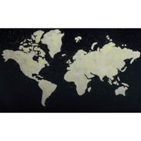 Moe's Home Collection 60-Inch x 36-Inch Black Map Wall Art