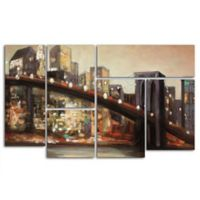 Trademark Fine Art NYC After Hours Multi Panel Canvas Wall Art (Set of 6)