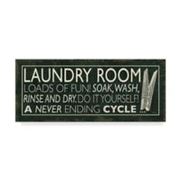 Trademark Fine Art Laundry Room I Clothespin 14-Inch x 32-Inch Canvas Wall Art