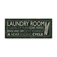 Trademark Fine Art Laundry Room I Clothespin 20-Inch x 47-Inch Canvas Wall Art