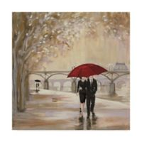 Trademark Fine Art Romantic Paris III Red Umbrella 14-Inch x 14-Inch Canvas Wall Art