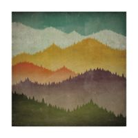 Trademark Fine Art A Mountain View 14-Inch x 14-Inch Wall Art