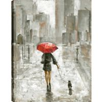 The Umbrella Girl V 40-Inch x 30-Inch Canvas Wall Art