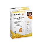 Medela® Pump & Save 20-Count Breast Milk Bags with Easy-Connect Adapter