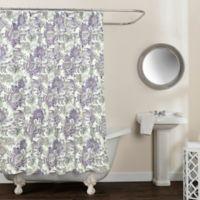 Avignon Floral 54-Inch 78-Inch Shower Curtain in Purple