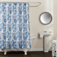 Avignon Floral 54-Inch 78-Inch Shower Curtain in Blue