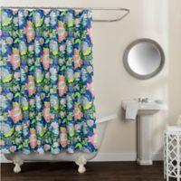 Avignon Floral Multicolor 72-Inch x 72-Inch Shower Curtain