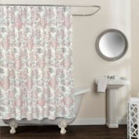 Avignon Floral 72-Inch x 72-Inch Shower Curtain in Blush