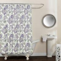 Avignon Floral 72-Inch x 72-Inch Shower Curtain in Purple