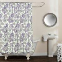 Avignon Floral 72-Inch x 84-Inch Shower Curtain in Purple