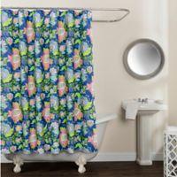 Avignon Floral Multicolor 72-Inch x 84-Inch Shower Curtain