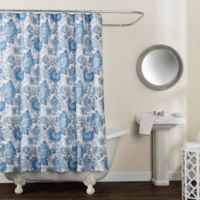 Avignon Floral 72-Inch x 84-Inch Shower Curtain in Blue