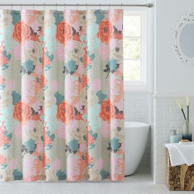 Jodi Shower Curtain In Tan