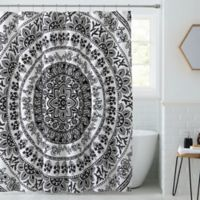 Kaci Shower Curtain in Black/White