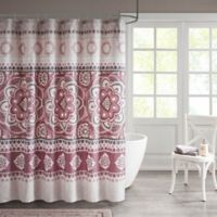 Neda Medallion Shower Curtain in Rose