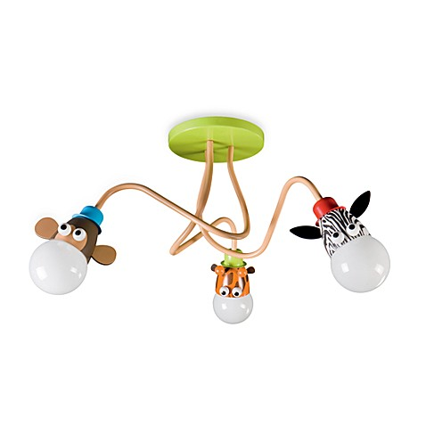 Kidsplace 3-Light Zoo Animals Ceiling Lamp