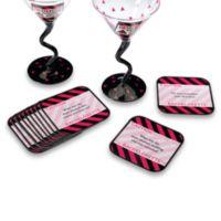 Lillian Rose™ Bachelorette Party 6-Piece Coaster Set