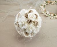 Lillian Rose™ Taupe Rose Wedding Bouquet