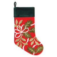 C&F Home Holly Stocking in Red