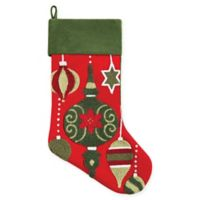 C&F Home Ornaments Stocking in Red