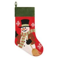 C&F Home Snowman Stocking in Red