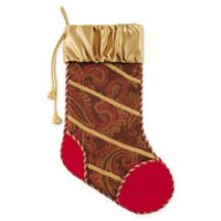 C&F Home Neoclassical Christmas Stocking in Brown