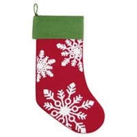 C&F Home Winter Snowflakes Stocking in Red