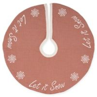 21-Inch Let It Snow Mini Christmas Tree Skirt