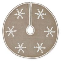 21-Inch Pearlescent Mini Christmas Tree Skirt