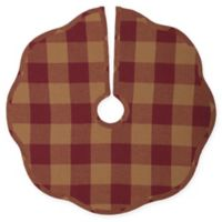 VHC Brands Scalloped Mini Christmas Tree Skirt in Burgundy