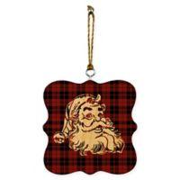 Designs Direct Plaid Santa Ornaments (Set of 2)