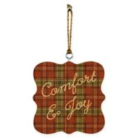 "Designs Direct ""Comfort and Joy Plaid"" Ornaments (Set of 2)"