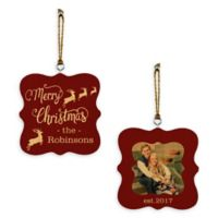 "Designs Direct ""Merry Christmas Reindeer"" 2-Sided Ornament"