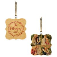 Designs Direct Christmas Wreath Whimsical 2-Sided Wood Ornament