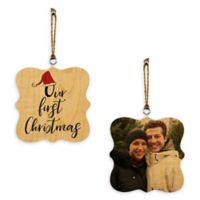 """Designs Direct """"Our First Christmas"""" 2-Sided Wood Ornament"""