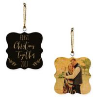 Designs Direct First Christmas Together 2-Sided Wood Ornaments in Brown