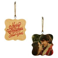 Designs Direct Merry Christmas and Happy New Year! 2-Sided Wood Ornaments
