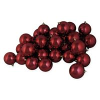 Northlight 60-Pack Shiny Christmas Ball Ornaments in Red