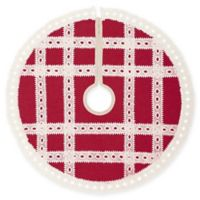 Margot Mini Christmas Tree Skirt in Red