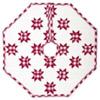 21-Inch Emmie Patchwork Mini Christmas Tree Skirt in Red
