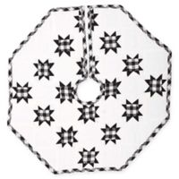 21-Inch Emmie Patchwork Mini Christmas Tree Skirt in Black