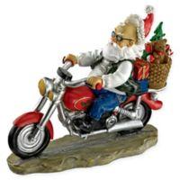 Design TOSCANO® Old School Father Christmas Santa Biker Statue