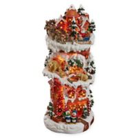 Design TOSCANO® The North Pole On Christmas Eve Illuminated Statue