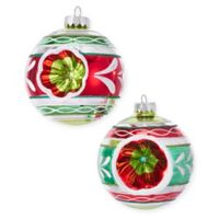 Kurt Adler Early Years 4-Piece 100mm Reflector Glass Ball Ornament Set