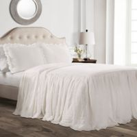 Lush Decor Ruffle Twin Bedspread Set in White